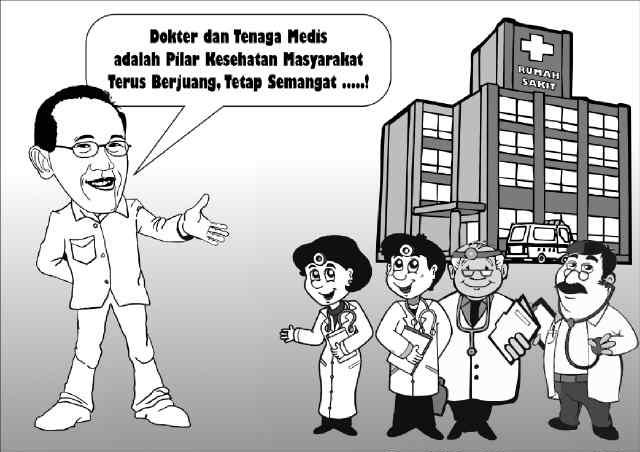 Aburizal Bakrie dan Tenaga Medis (Karikatur ARB)