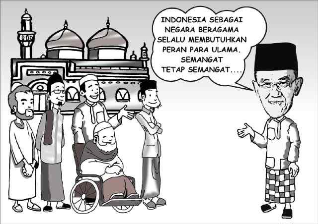 Aburizal Bakrie dan Ulama (Karikatur ARB)