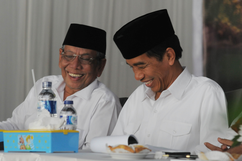 Image result for kh hasyim muzadi dan jokowi
