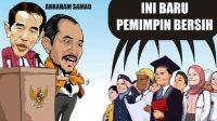 Karikatur Pasangan Capres Jokowi Abraham Samad