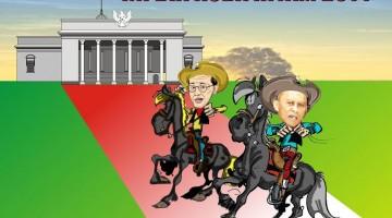Aburizal Bakrie-Pramono Edhie Wibowo (ARB-Pramono Edhie -Ilustrasi Kuda Hitam Pilpres 2014)