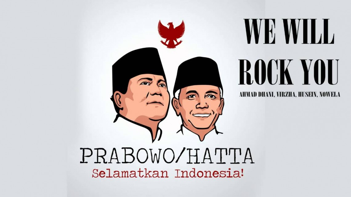 Lagu Ahmad Dhani berjudul Indonesia Bangkit untuk pasangan Prabowo Subianto dan Hatta Rajasa