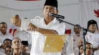 Prabowo had repeatedly claimed that polling firms with links to his campaign showed he was ahead [AP]