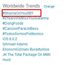 #ShameOnYouSBY