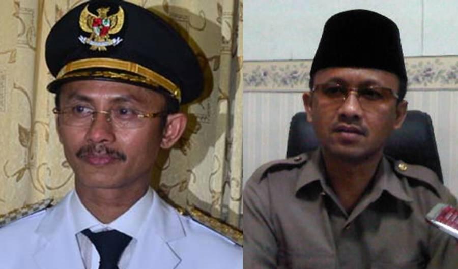Kakak-beradik penguasa Pamekasan: sang kakak Bupati Achmad Syafii (kiri) dan adiknya Ketua DPRD Halili Yasin Foto: Sayangi.com/Dok