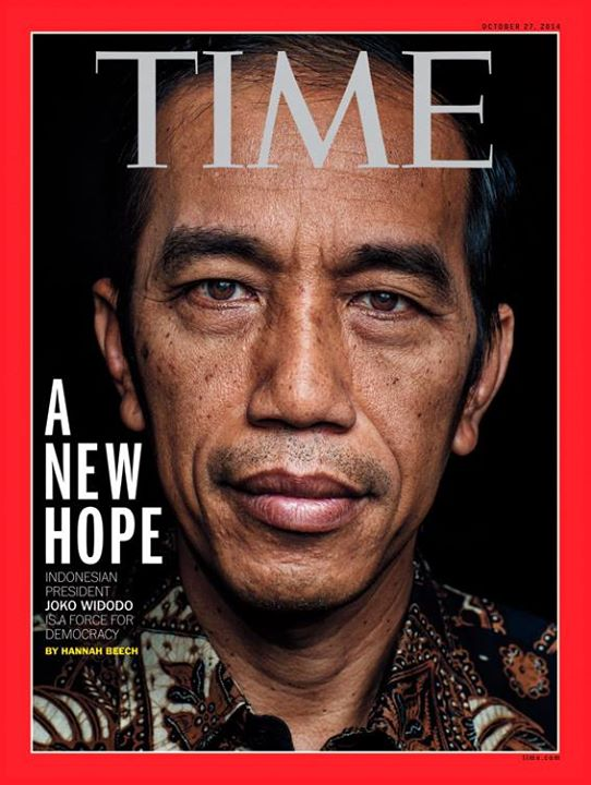 A New Hope, Indonesian President Joko Widodo is a force for democracy. Sumber: Majalah Time