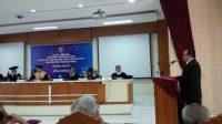 Alfan Alfian saat sidang terbuka promosi Doktor di Pasca Sarjana FISIP UGM Yogyakarta, Rabu (28/1).