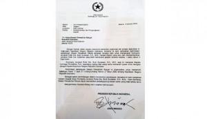Surat Penunjukkan Komjen. Budi Gunawan sebagai Kapolri oleh presiden Joko Widodo. (kompolnas)