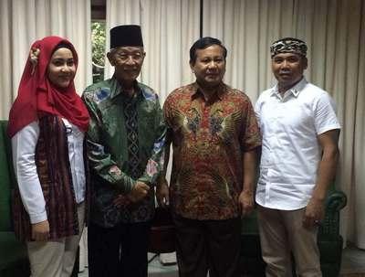 H. Muhammad Sani bersama Ketua Umum Partai Gerindra Prabowo Subianto