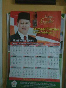 Alat perga kampanye di Pilkada Sumsel milik salah satu kandidat (ist)