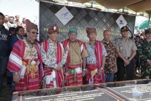 Pencanangan Observatorium di Amfoang, Kupang, NTT, Senin (9/7). (foto: Kemenristekdikti)