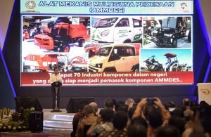 Presiden saat memberi sambutan dalam acara Gaikindo Indonesia Internasional Auto Show (GIIAS) ke-26 di ICE BSD, Tangerang, Banten, Kamis (2/8). (Foto: Humas/Agung).