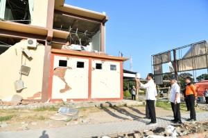Presiden saat meninjau gempa bumi di Lombok beberapa waktu lalu.