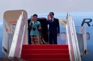 Presiden Jokowi dan Ibu Negara Iriana Joko Widodo
