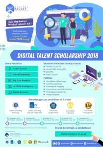 Banner pengumuman beasiswa Digital Talent 2018