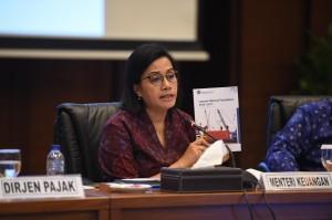 Menkeu saat memberikan penjelasan di Aula Djuanda gedung Juanda I Kementerian Keuangan, Jakarta, Kamis (18/10). (Foto: Humas Kemenkeu)