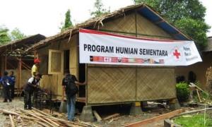 Salah satu contoh pembangunan Huntara untuk korban gempa di Palu. (Foto: IST)