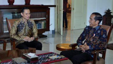 Presiden Jokowi menerima Kogasma Partai Demokrat Agus Harimurti Yudhoyono, di Istana Kepresidenan Bogor, Jabar, Rabu (22/5) pagi. (Foto: OJI/Humas)