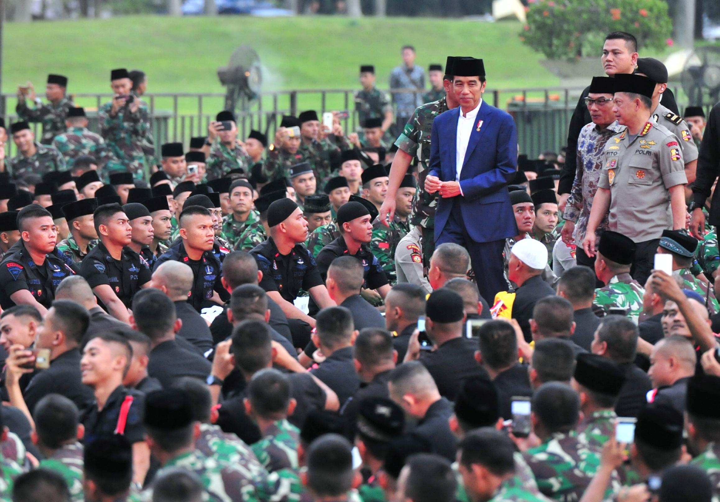 Presiden Jokowi: Rakyat Senang Lihat TNI dan Polri Solid dan Sangat Bersatu