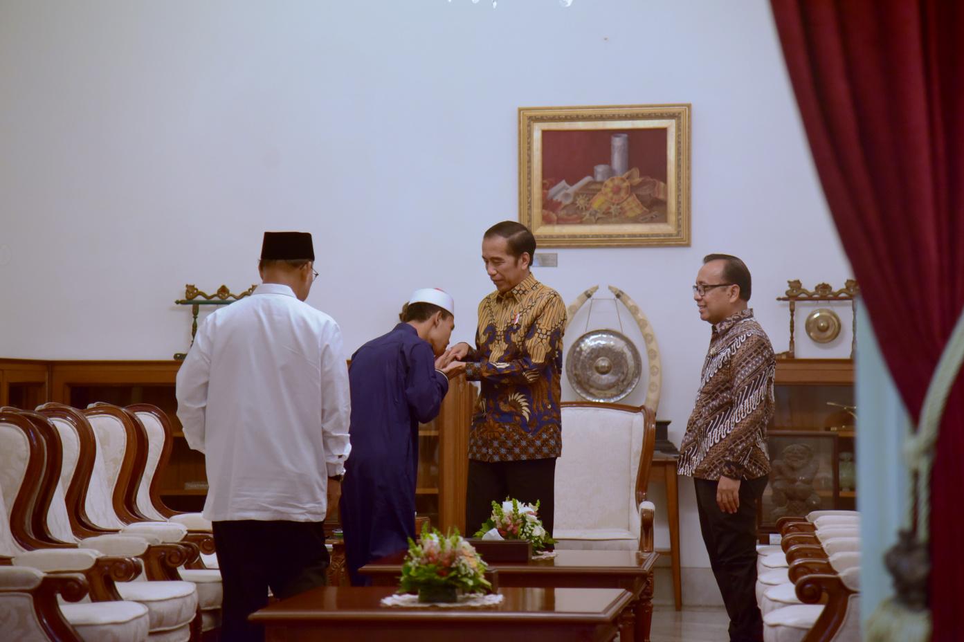 DIterima Presiden Jokowi, Juara I MTQ Internasional Mengaku Terharu, Sedih Campur Bahagia