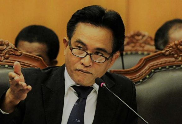 Kuasa hukum pasangan calon kepala daerah Labuhanbatu Andi Suhaimi Dalimunthe-Faizal Amri Siregar, Yusril Ihza Mahendra