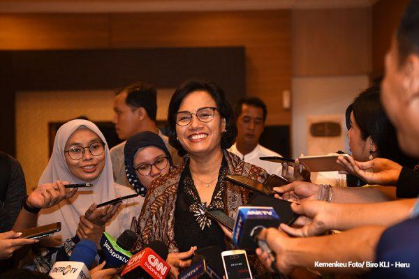 Menkeu kepada awak media yang hadir di Widya Chandra, Jakarta, Rabu (5/6). (Foto: BPMI)