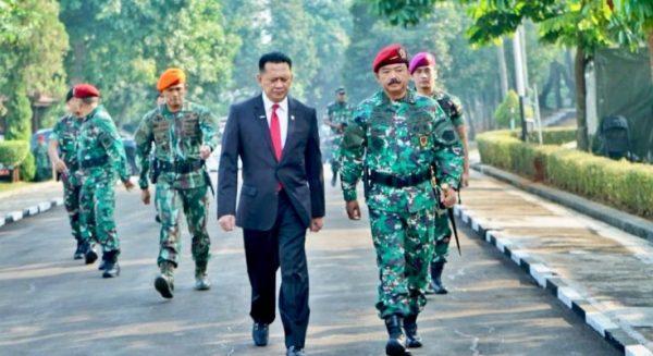 Ketua MPR Bambang Soesatyo bersama Panglima TNI Marsekal Hadi, dalam salah satu kesempatan.