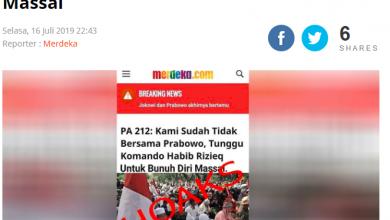 [BERITA] Hoaks Catut Nama Merdeka.com Soal Tunggu Komando Habib Rizieq Bunuh Diri Massal