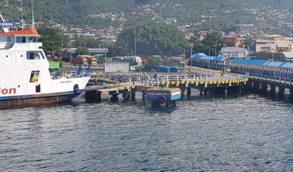 Kapal ferry di Pelabuhan Merak.Banten