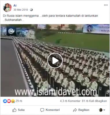 [SALAH] Di Rusia islam menggema oleh para tentara kalamullah di lantunkan