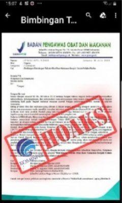 [SALAH] Surat Undangan Bimbingan Teknis untuk Pelaku Usaha dari BPOM