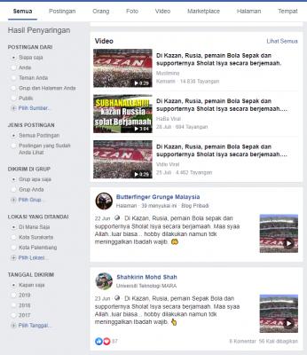 [SALAH] Di Kazan, Rusia, pemain Sepak Bola dan supporternya Sholat Isya secara berjamaah