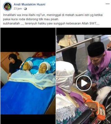 [SALAH] Pasangan Kakek Nenek Wafat di Mekkah Saat Haji