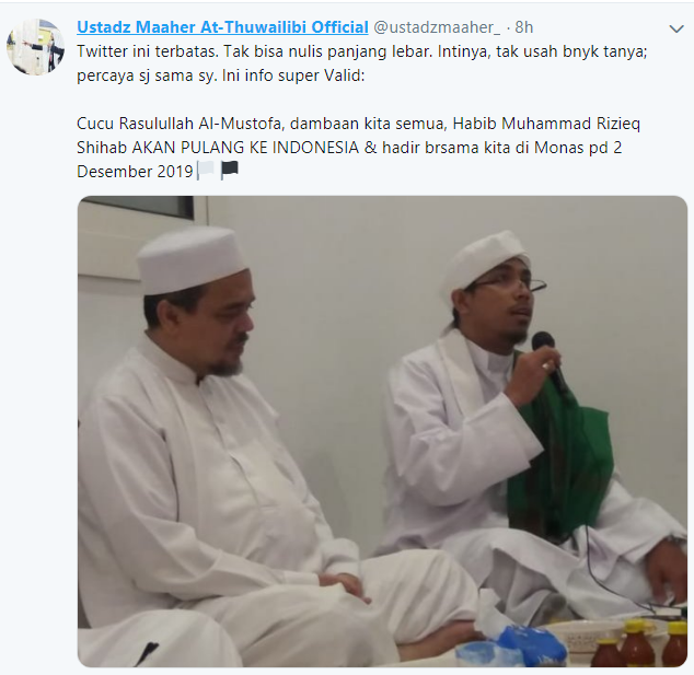 Info Valid Habib Rizieq Syihab Hadir Di Monas Pada 2 Desember Indopolitika Com