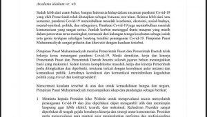 Pernyataan sikap Muhammadiyah