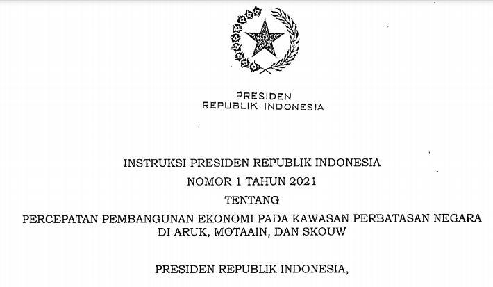 Inilah Instruksi Presiden Untuk Percepatan Pembangunan Ekonomi Pada Kawasan Perbatasan Negara