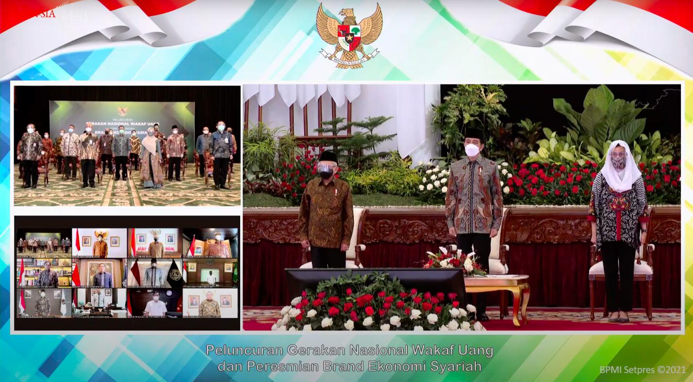 Presiden Jokowi Luncurkan Gerakan Nasional Wakaf Uang