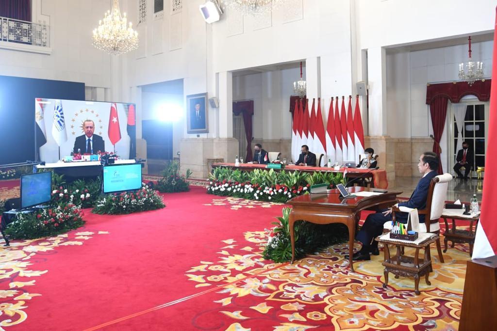 Dihadiri Presiden Jokowi Secara Virtual, KTT D-8 Hasilkan Dua Dokumen