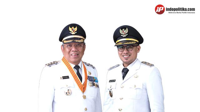Walikota dan Wakil Walikota Tangsel Benyamin Davnie dan Pilar Saga Ichsan
