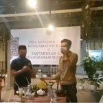potong tumpeng Munarman ditangkap. Foto: tangkapan layar akun @Selo57550672