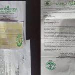 Surat permintaan dana THR ke pedagang.(ist)