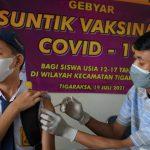 vaksinasi pelajar di Kabupaten Tangerang.