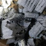 Persedian vaksin di gudang penyimpanan Puskesmas Sumur Batu hangus terbakar pada Kamis (8/7) malam. Foto: Dokumentasi Humas Pemadam Kebakaran Jakarta Pusat