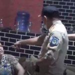 Tangapan layar Oknum Satpol PP di Gowa saat menunjuk-nunjuk muka pemilik kafe berujung penganiayaan yang viral di medsos